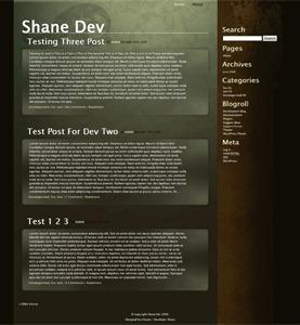 Organic top WordPress theme