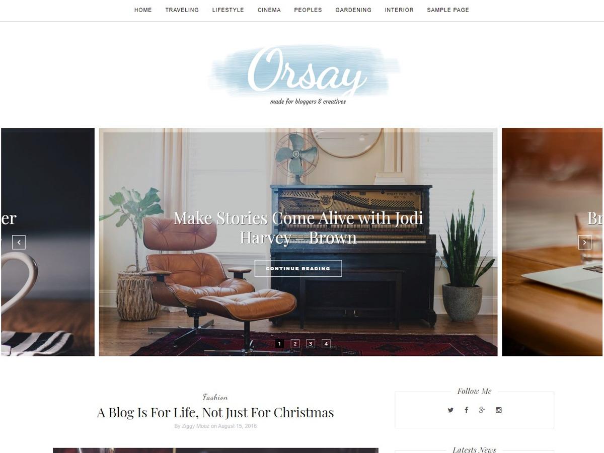 Orsay fashion WordPress theme