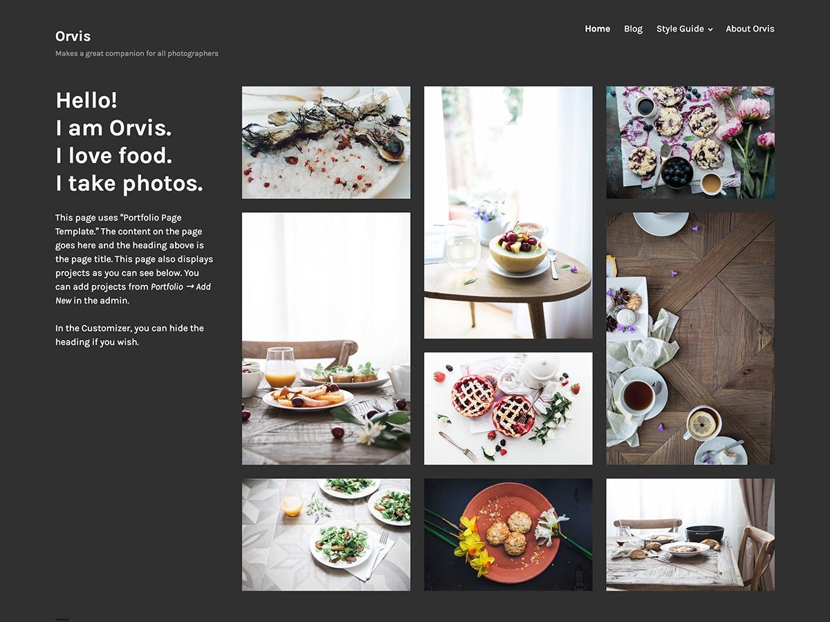 Orvis wallpapers WordPress theme