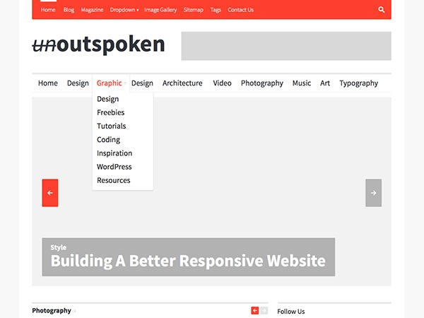 Outspoken best WordPress magazine theme