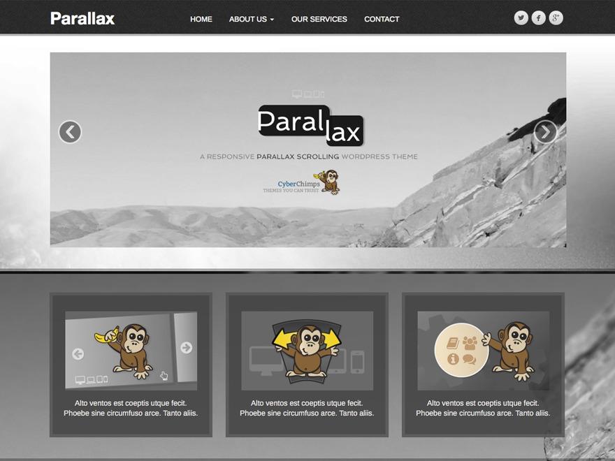 Parallax Child 01 premium WordPress theme