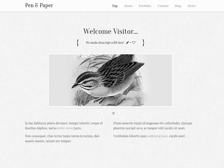 Pen & Paper theme WordPress
