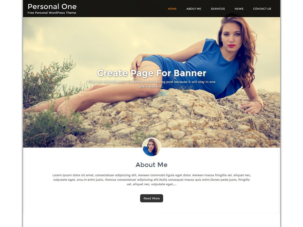 Personal One WordPress template for photographers