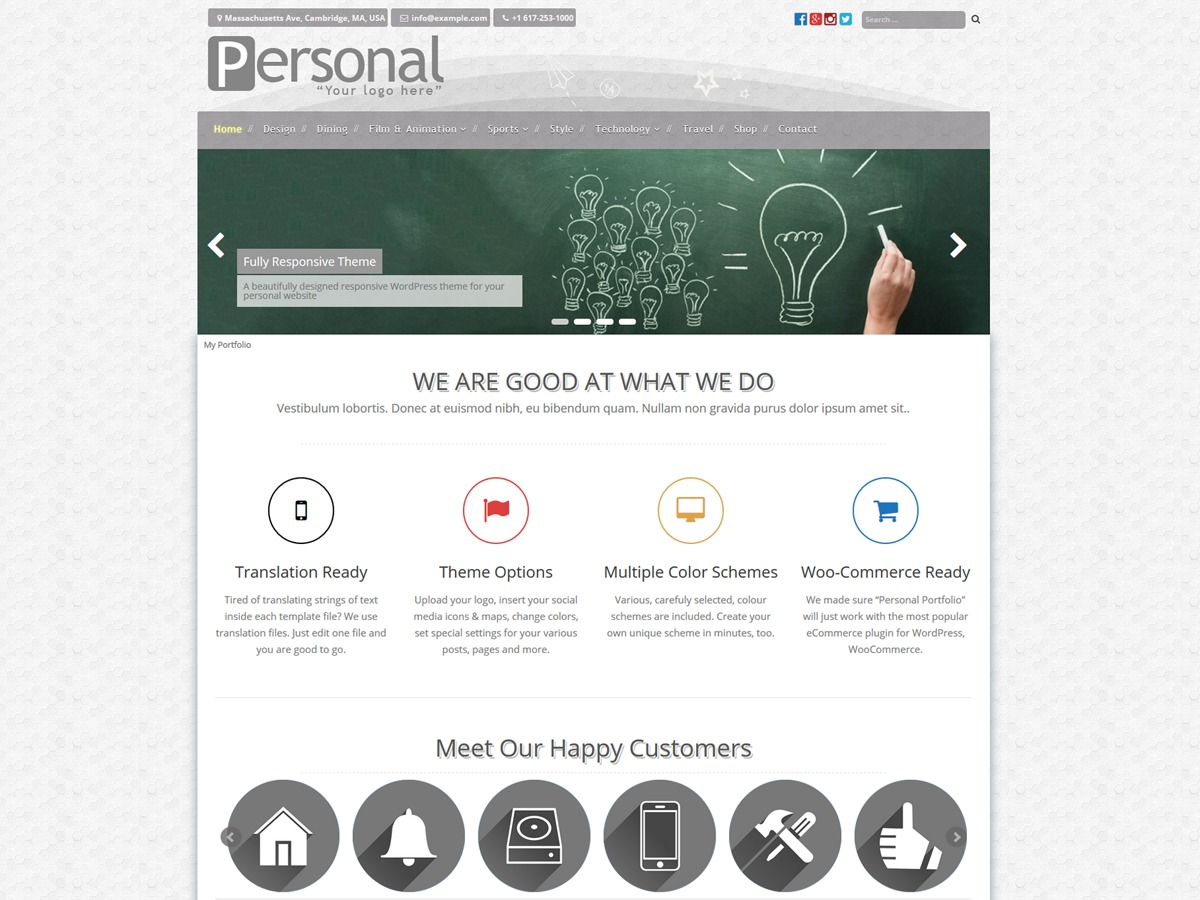 Personal Portfolio free WordPress theme