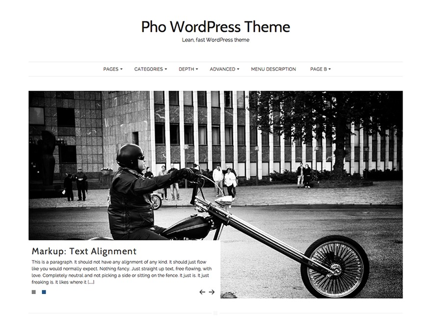 Pho template WordPress free