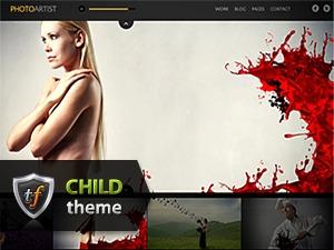 Photo Artist Child WordPress theme design