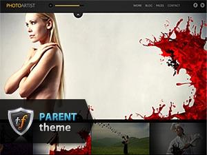 Photo Artist Parent theme WordPress portfolio
