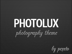 Photolux wallpapers WordPress theme