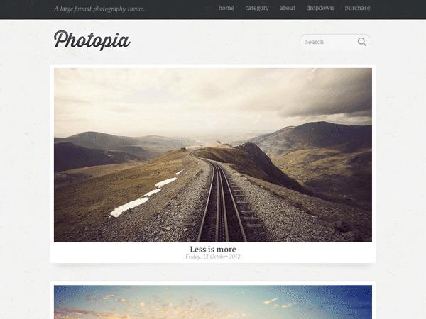 Photopia photography WordPress theme