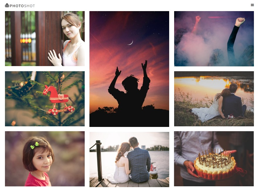 Photoshot photography WordPress theme