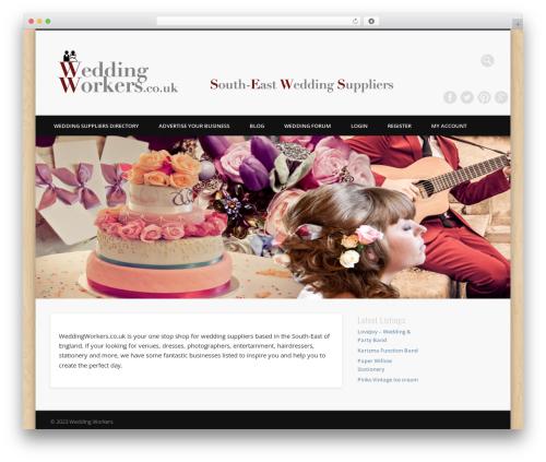 Pinboard theme WordPress - weddingworkers.co.uk