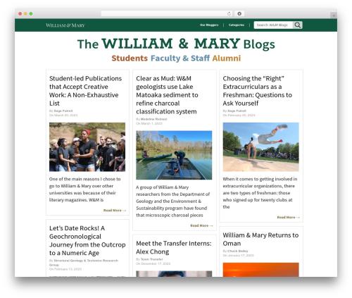 Pinboard WordPress blog template - wmblogs.wm.edu