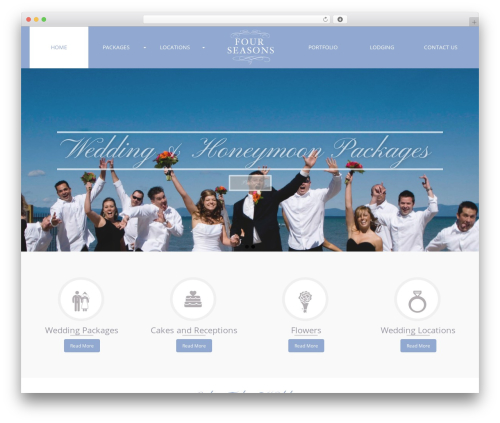 Pinnacle Premium WordPress wedding theme - weddingsatlaketahoe.com