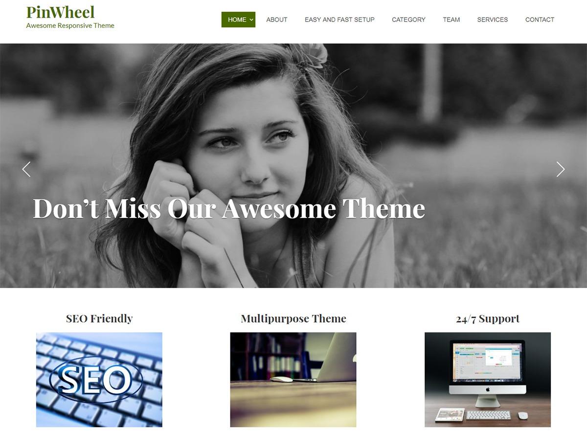 Pinwheel template WordPress free