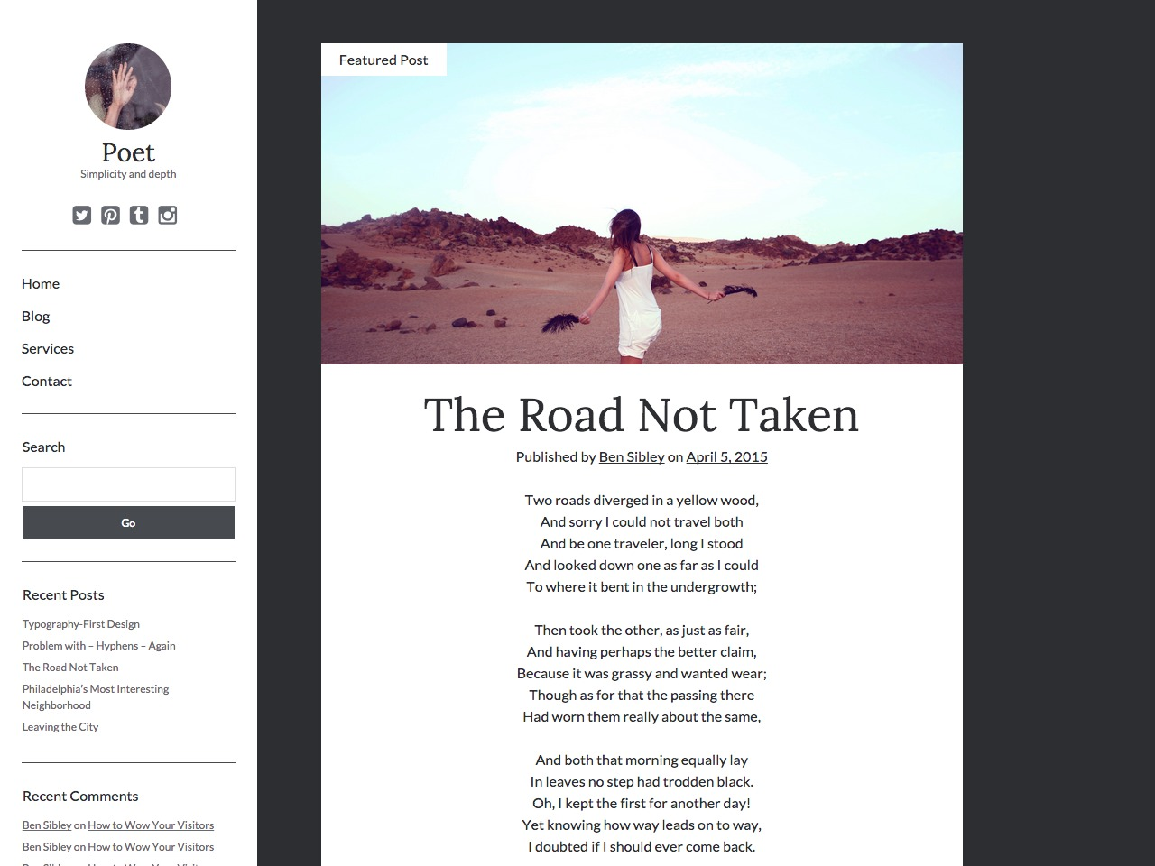 Poet WordPress theme