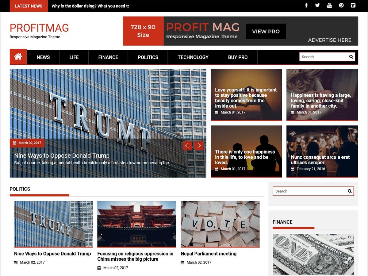 ProfitMag free website theme