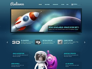 Radiance WordPress website template