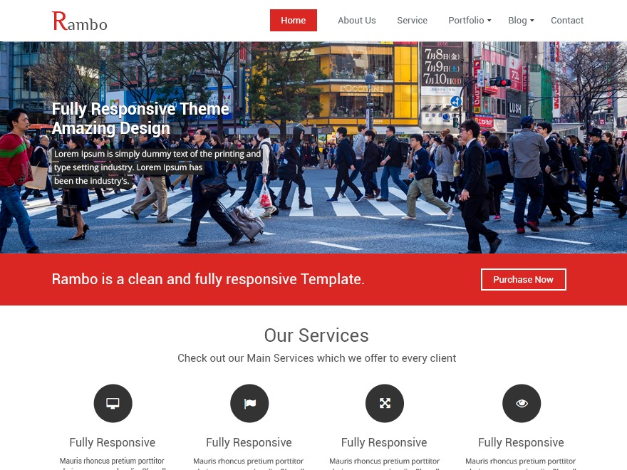 Rambo WordPress template for business