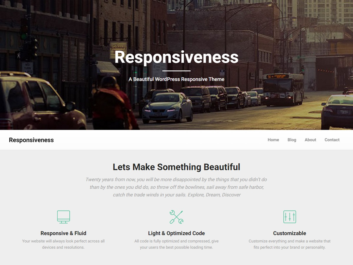 Responsiveness free WP theme