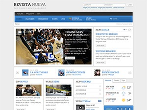Revista Nueva best WordPress template