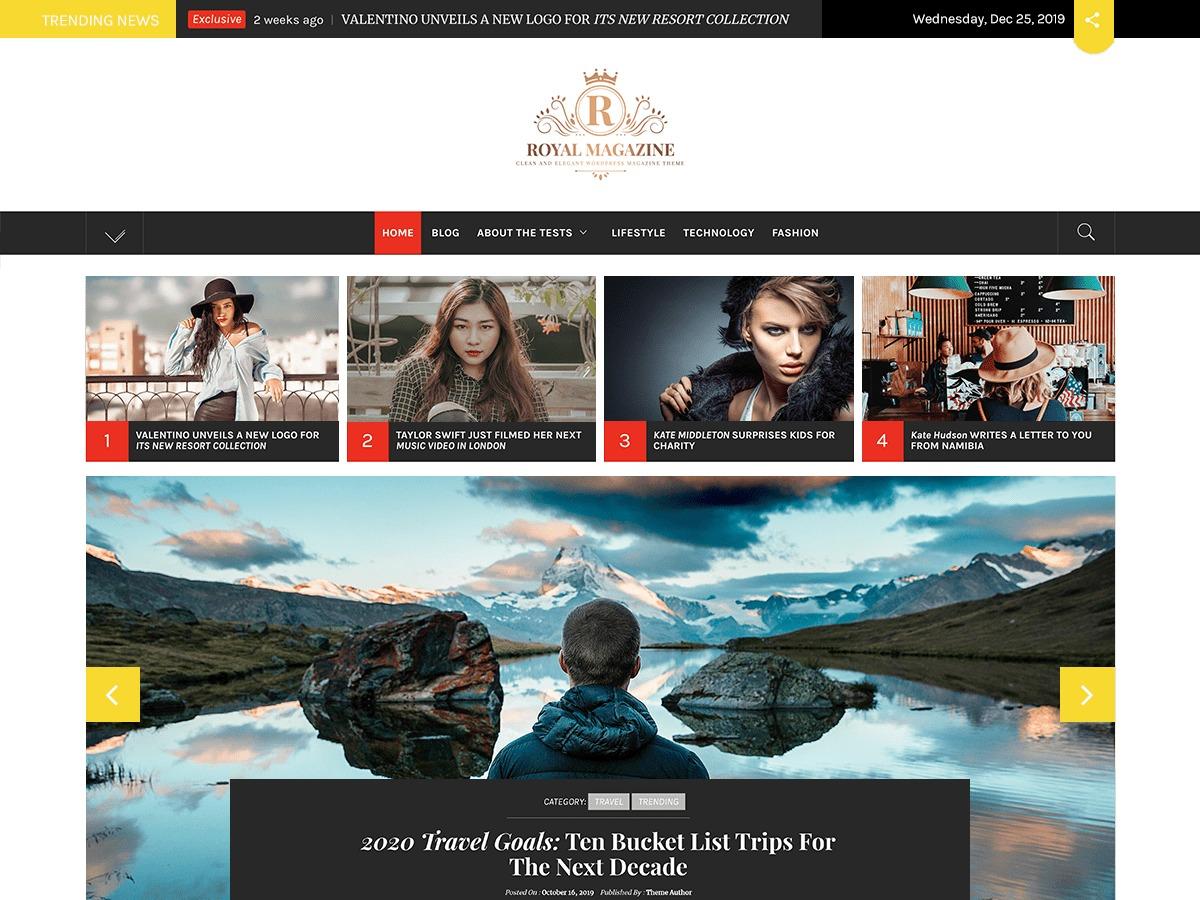 Royal Magazine best free WordPress theme