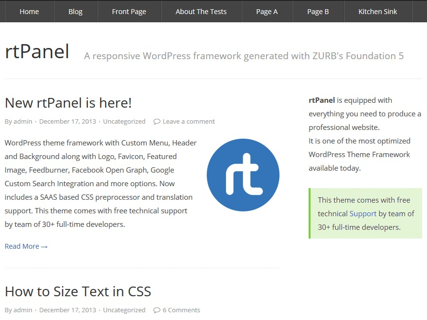 rtPanel template WordPress