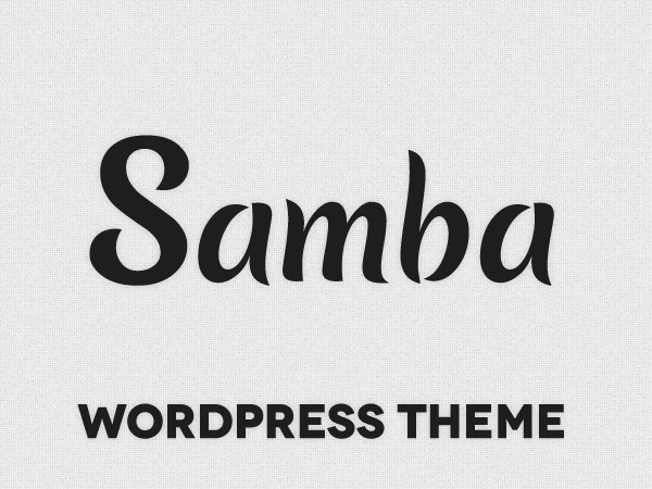Samba top WordPress theme