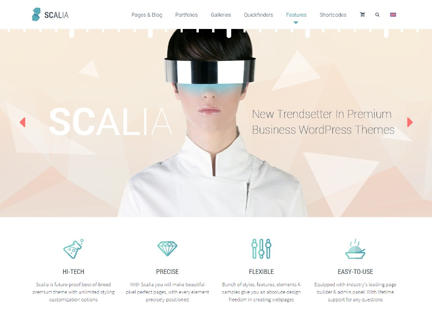 Scalia WordPress theme