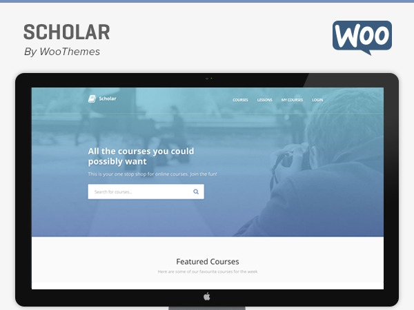 Scholar WordPress template