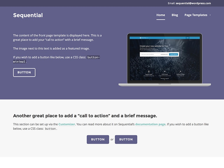 Sequential theme WordPress free