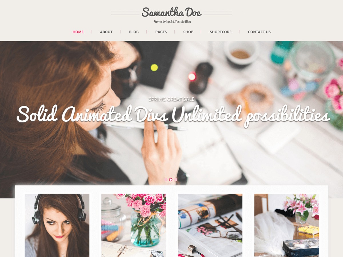 SKT Girlie Lite free WordPress theme