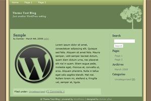 SoftGreen WordPress website template