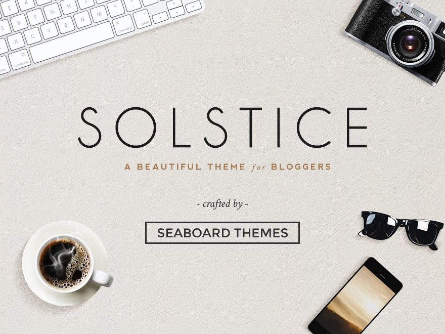 Solstice WordPress template for business