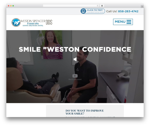 Spencer WordPress theme - westonspencerdds.com