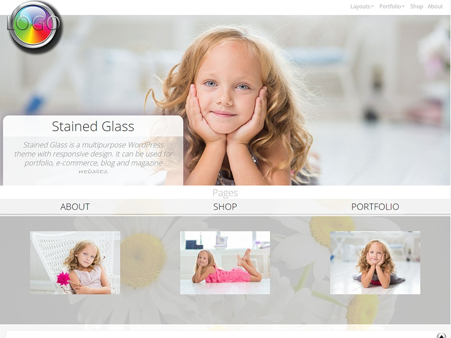 Stained Glass template WordPress free