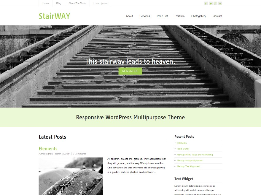 StairWay WordPress ecommerce template