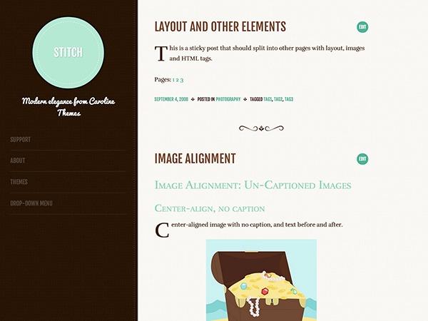 Stitch WordPress theme