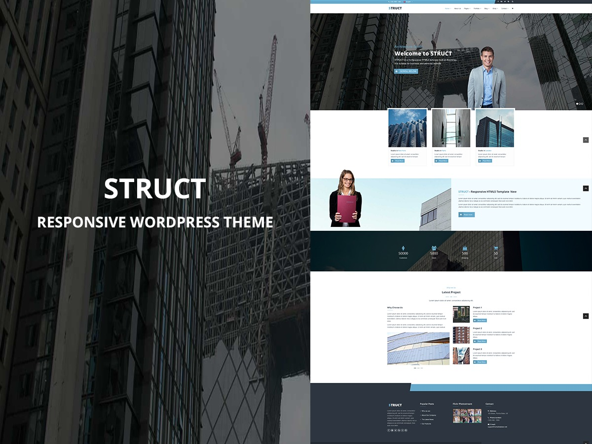 Struct business WordPress theme