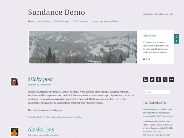 Sundance best WordPress video theme