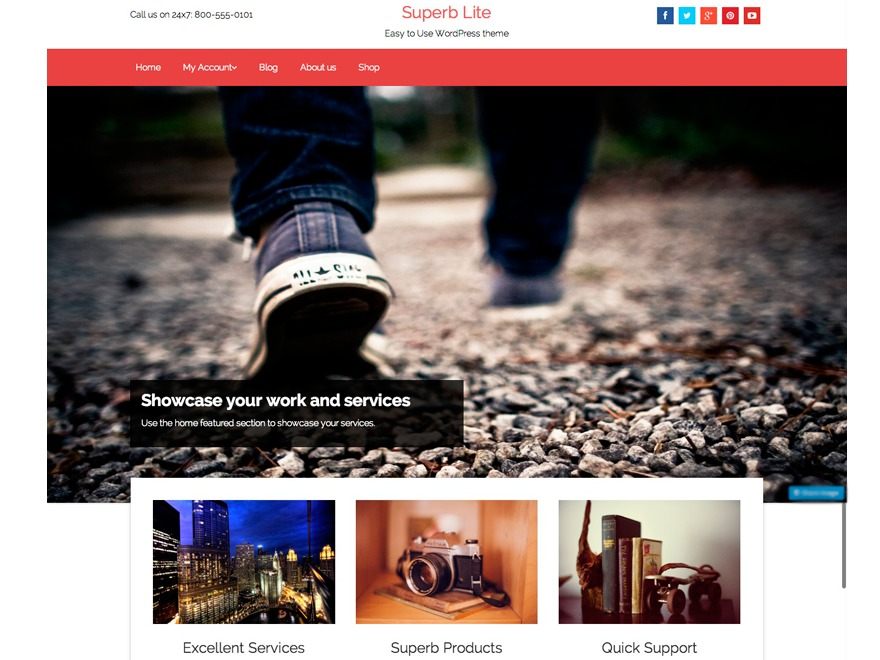 Superb Lite WordPress shop theme