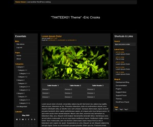 TAKTEEK01 WordPress theme