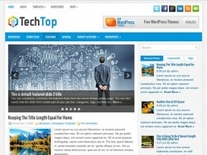 TechTop WP template
