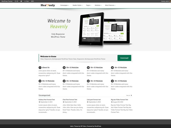 Template WordPress Heavenly