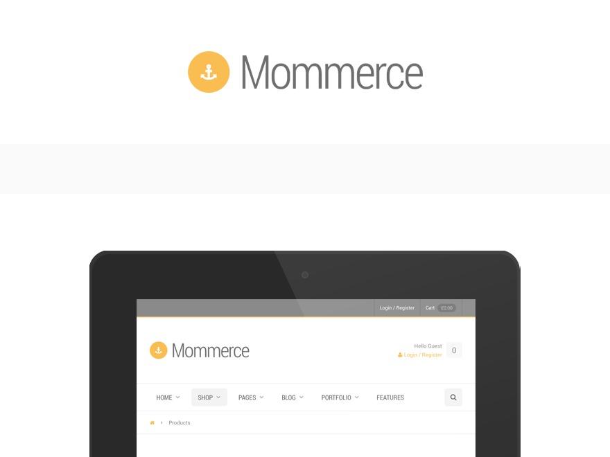 Template WordPress Mommerce