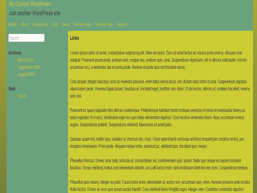 Template WordPress The Final Frontier