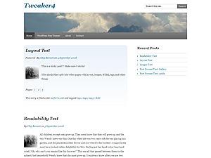 Template WordPress Tweaker4