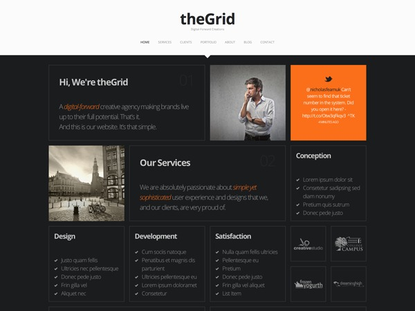 The Grid WordPress blog template