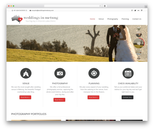The7 WordPress photo theme - weddingsinmetung.com