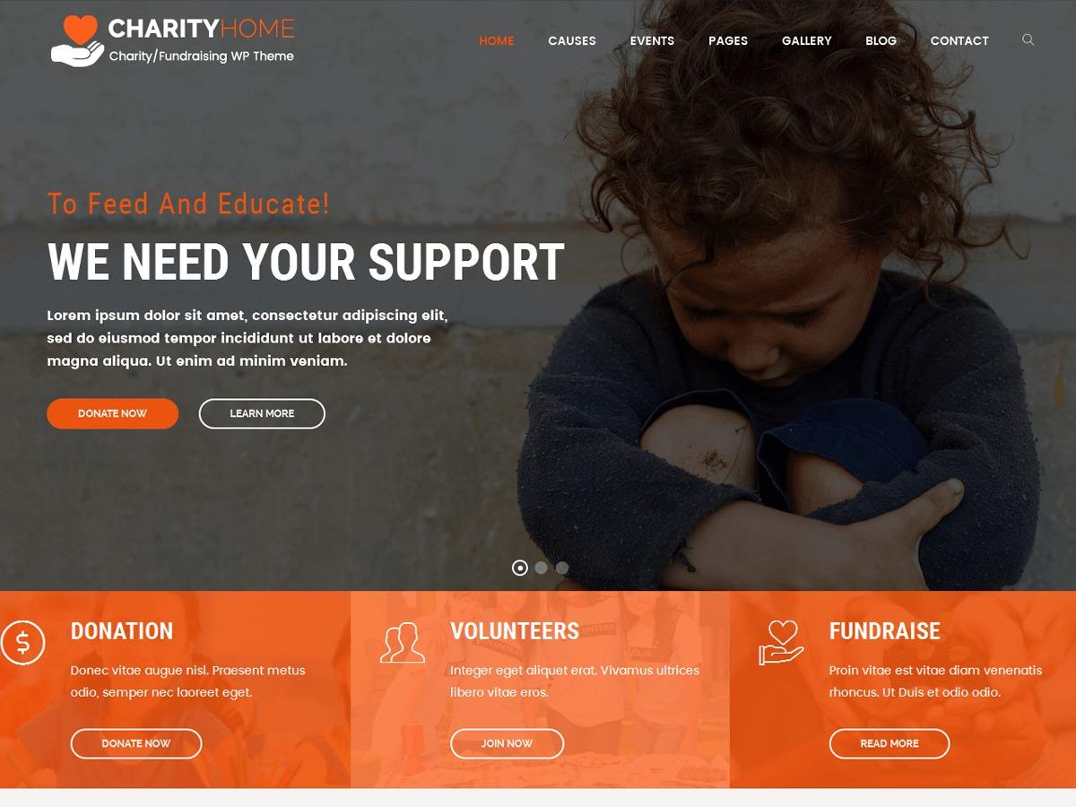 Theme WordPress Charity Home