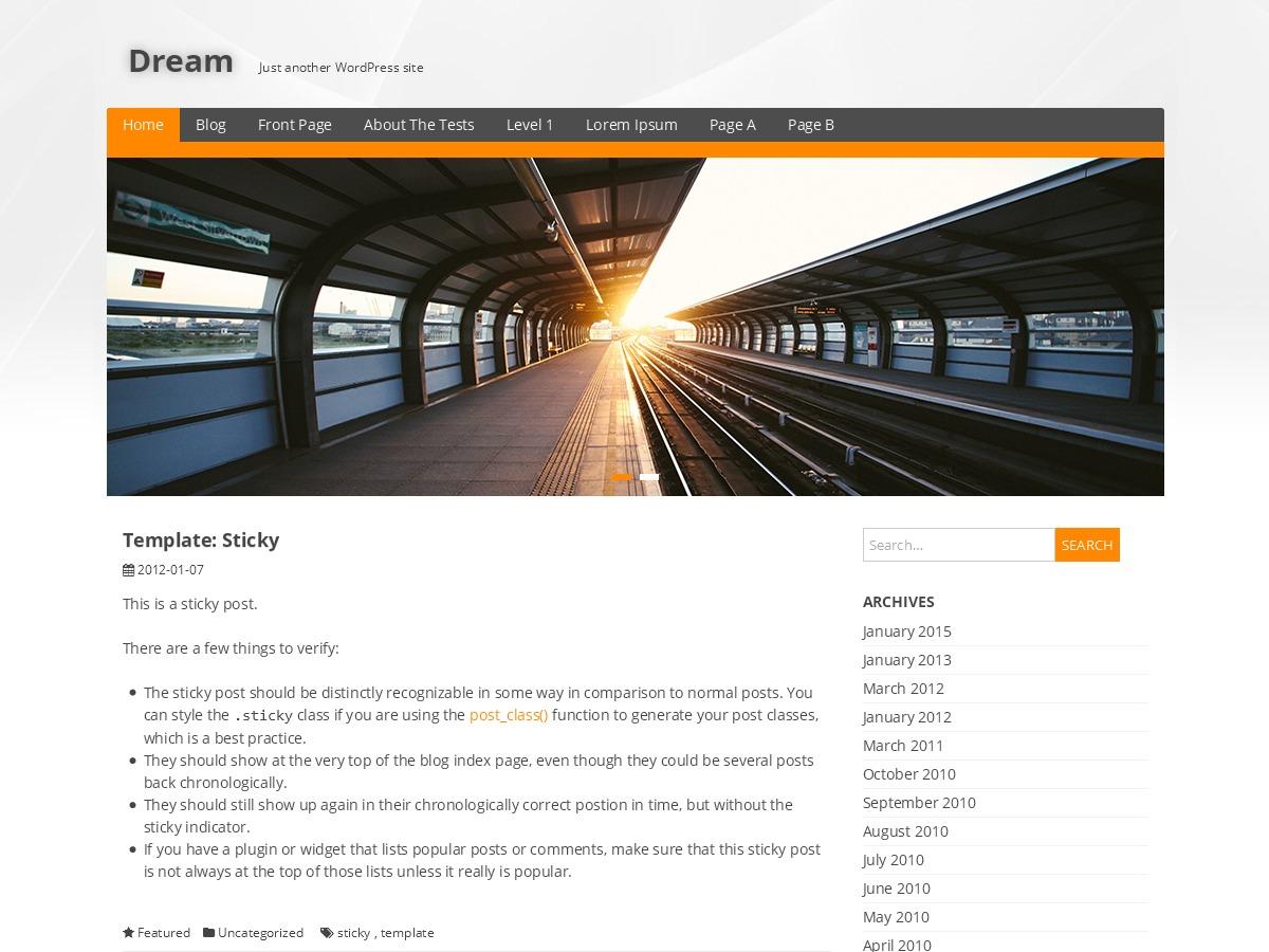 Theme WordPress Dream
